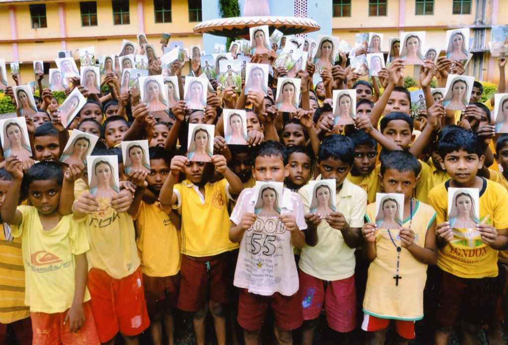 Rosary and reconciliation cards donated to an orphanage in India.