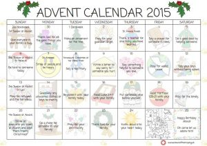 Our Advent Calendar is available for download on the link below.
