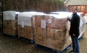 Donations packed and ready for their long journey to Ghana.